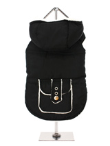 Black / White Fleece-Lined Bodywarmer with Hood - This hooded Bodywarmer is just the thing for keeping you dog warm and comfortable as the colder days approach. It is lined with a snow white fleece that complements the black outer perfectly which will also keep your pup snug and warm. Four poppers on the underbelly allow for fast and easy closure a...