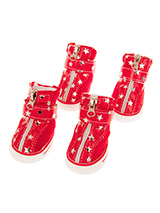 Red Star Trainers - These are not just a great style item to match your own trainers but you can protect your dog's paws or cover them when they are injured. These dog boots can also protect boat decks / wooden floor from claws and help elderly dogs stop sliding on tiles or floors.