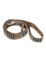 Brown Checked Tartan Fabric Lead - Here at Urban Pup our design team understands that everyone likes a <br />coordinated look. So we added a Brown Checked Tartan Fabric Lead to <br />match our Brown Tartan Harness, Bandana and collar. This lead is <br />lightweight and incredibly strong.