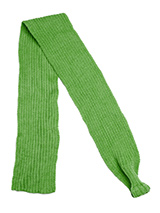 Green Knitted Scarf - Our knitted scarves can be worn in a number of ways. One end of the scarf has an opening so that it can be worn like a tie. Or it can be simply tied around the neck. But whatever way it is worn it is guaranteed to create that casual look while keeping the neck and chest warm. <br />