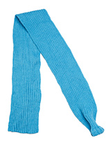 Blue Knitted Scarf - Our knitted scarves can be worn in a number of ways. One end of the scarf has an opening so that it can be worn like a tie. Or it can be simply tied around the neck. But whatever way it is worn it is guaranteed to create that casual look while keeping the neck and chest warm.