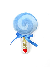 Blue Lollipop Plush & Squeaky Dog Toy - Everyone loves a lolly and we bet your dog is no different. This Pink Lollipop Plush and Squeaky Dog Toy will keep them amused and give them heaps of fun with every squeak. These soft, cute and cuddly toys are designed for your dog to both snuggle with and play with but are also strong enough to sta...