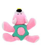 Pink Bear Ball Toy - The body of our Pink Bear Ball Toy is covered with a hard rubber 'waistcoat' and is a great interactive toy for playing 'fetch'. He is quite robust and will stand up to a lot of chewing and biting. The rest of him is cuddly and colourful with an added squeak to entertain your pet! This toy will prov...