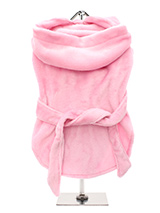 Pink Plush & Fluffy Terry Bathrobe - Our new Super Soft and Plush & Fluffy Terry Bathrobes are made from Plush Micro-fibre, it is so soft you will not want to put it down. Great for wrapping up in after bath time to relax and dry out. It has a matching towelling belt which is attached so as not to fall off and this great for pulling up...