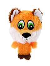 The Quick Red Fox Plush & Squeaky Dog Toy - The head of the Quick Red Fox is actually a rubber ball with a bumpy surface covered in fabric and is a great interactive toy for playing 'fetch'. He is quite robust and will stand up to a lot of chewing and biting. The rest of him is cuddly and colourful with an added squeak to entertain your pet!...