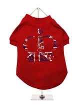 Royal Crown GlamourGlitz Dog T-Shirt - Exclusive GlamourGlitz 100% Cotton Dog T-Shirt. Fit for your prince or princess, the Crown Design is a real style indicator and a must have look. Crafted with Red, Silver and Blue Rhinestuds that catch a sparkle in the light. Wear on it's own or match with a GlamourGlitz ''Mommy and Me'' Women's T-S...
