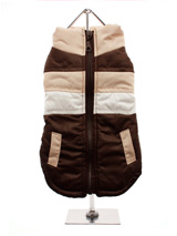 Brown Quilted Gilet - This trendy gilet is warm but lightweight, great for those in-between days when it is cold but not too cold. The jacket is practical and stylish and is guaranteed to keep the cold at bay and the soft fleece lining will keep your dog toasty warm. The coat has a zip that runs along the spine making it...