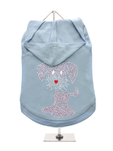 GlamourGlitz UrbanPup Dog Hoodie - Exclusive GlamourGlitz 100% Cotton Hoodie. This cute, light hearted design for dog lovers is sure to please your best friend & make a statement about who is the love of your life. Crafted with Pink & Silver Rhinestuds that catch a sparkle in the light. Wear on it's own or match with a GlamourGlitz '...