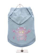 GlamourGlitz Little Devil Dog Hoodie - Exclusive GlamourGlitz 100% Cotton Hoodie. A devilish T-Shirt for your little devil, a beautiful devil design crafted with Pink Rhinestuds that catch a sparkle in the light. Wear on it's own or match with a GlamourGlitz ''<b>Mommy & Me</b>'' Women's T-Shirt to complete the look.