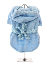 Plush & Fluffy Terry Bathrobe - It's bathtime! Our new Super Soft and Plush Bathrobes are made from Plush Micro-fibre, trimmed with a soft flannel cotton print. Great for wrapping up in after bathtime to relax and dry out. The bathrobe fastens with velcro for a snug fit.