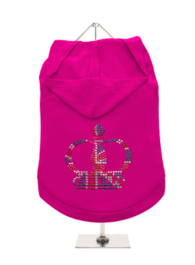 GlamourGlitz Royal Crown Dog Hoodie