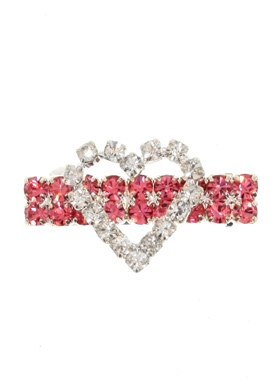 Heart Dog Swarovski Hair Clip / Dog Barrette
