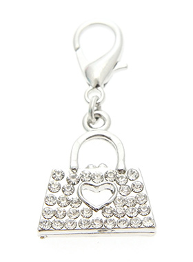 Swarovski Handbag Dog Collar Charm (Clear Crystals)