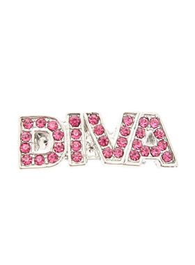 ''Diva'' Swarovski Hair Clip / Dog Barrette (Pink Crystals)