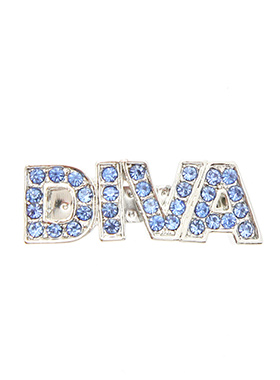 ''Diva'' Swarovski Hair Clip / Dog Barrette (Blue Crystals)