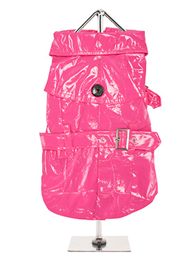 Fuschia Waterproof Trench Coat