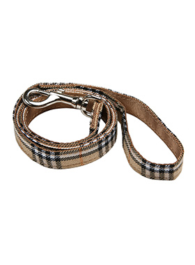 Brown Checked Tartan Fabric Lead
