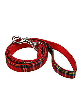 Red Tartan Fabric Lead