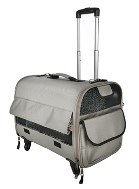 Large Taupe Travel Carrier
