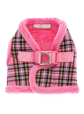 Luxury Fur Lined Pink Tartan Harness
