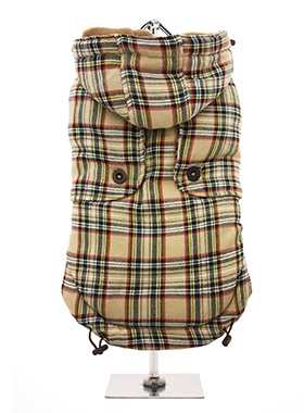 Brown Tartan Coat