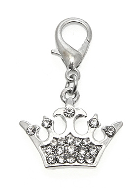 Imperial Crown Dog Collar Charm