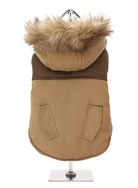 Faux Fur Brown Two Tone Parka