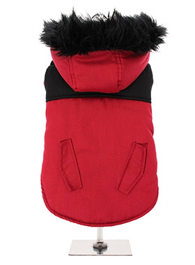 Red on Black Two Tone Parka