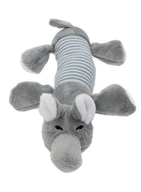 Nelly The Elephant Plush & Squeaky Dog Toy