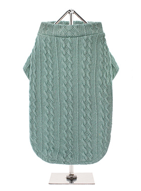Teal Cable Knitted Sweater