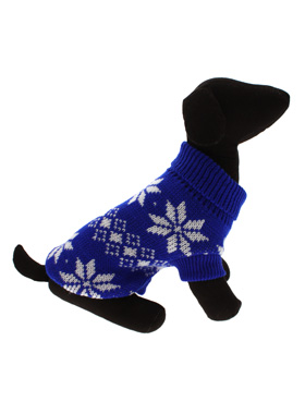 Blue Snowflake Knitted Sweater