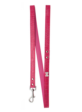Bruiser's Legally Blonde Pink Leather Diamante Lead
