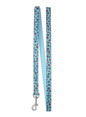 Handcrafted Cool Blue Bling Lead