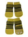 Yellow-Green Striped Pet Socks