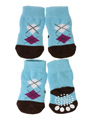 Blue / Black Argyle Pet Socks