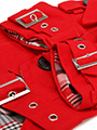 Red Fabric Trench Coat