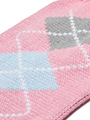 Baby Pink / Grey Argyle Sweater