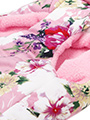 Floral Bouquet Faux Fur Trimmed Coat