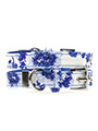 Blue Floral Bouquet Fabric Collar