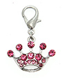 Princess Pink Crown Dog Collar Charm