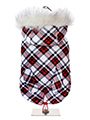 Red & White Plaid Tartan Fish Tail Parka