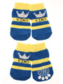 Blue / Yellow ''King'' Pet Socks