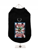 ''UK Punk Rock'' Harness-Lined Dog T-Shirt