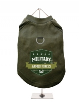 ''Military Armed Forces'' Harness-Lined Dog T-Shirt