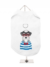 ''Humanimals: Sailing Schnauzer'' Harness-Lined Dog T-Shirt