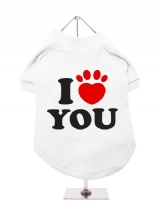 ''I Love You'' Dog T-Shirt