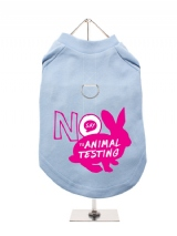 ''Say No to Animal Testing'' Harness-Lined Dog T-Shirt