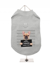 ''Police Mugshot - French Bulldog'' Harness-Lined Dog T-Shirt