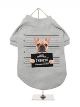 ''Police Mugshot - French Bulldog'' Dog T-Shirt