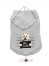 ''Police Mugshot - West Highland Terrier'' Dog Hoodie / T-Shirts